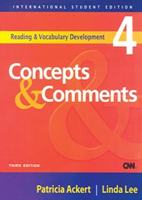 Reading & vocabulary development 4 Concepts and Comments
