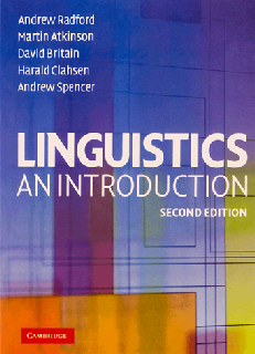 Linguistics An Introduction 2nd Edition