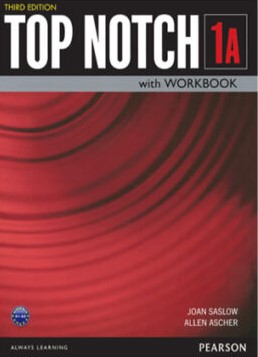 Top Notch 1A Third Edition student's book with workbook